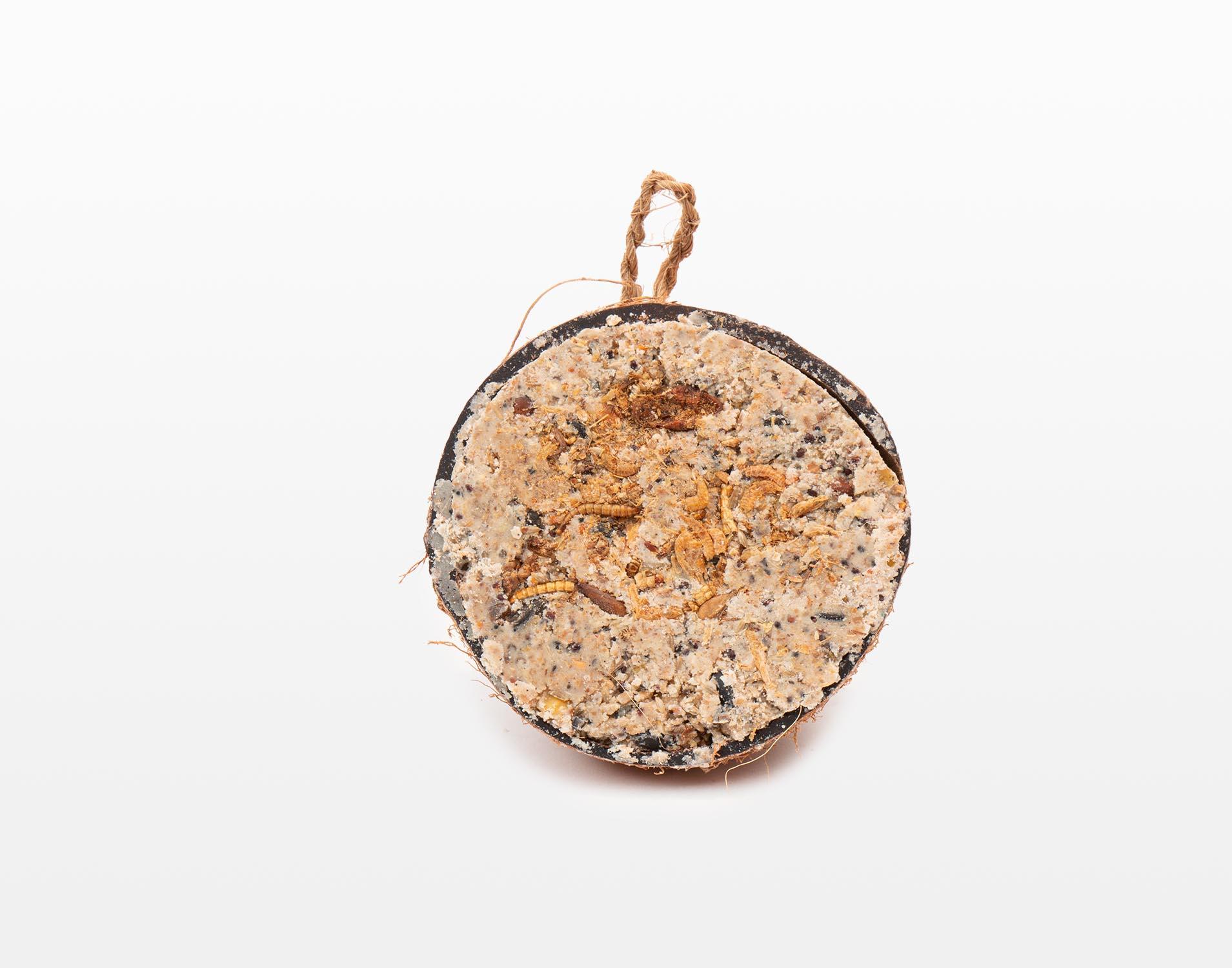 Halve gevulde kokosnoot - Meelworm